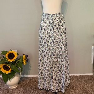 Country Prairie Flowers Button Front Maxi Sz 22/24